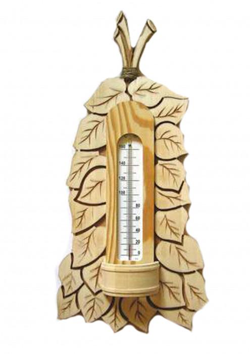 """Термометр сувенир для бани и сауны """"Веник"""" (160 гр.)"""