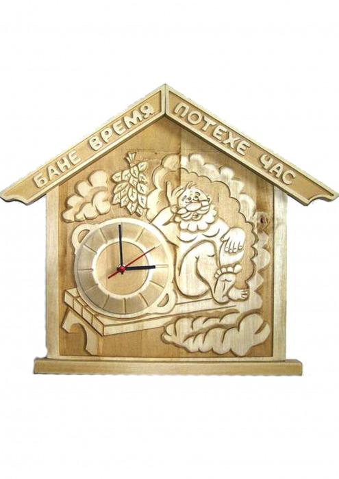 """Часы панно для бани и сауны """"Бане время, потехе час"""""""