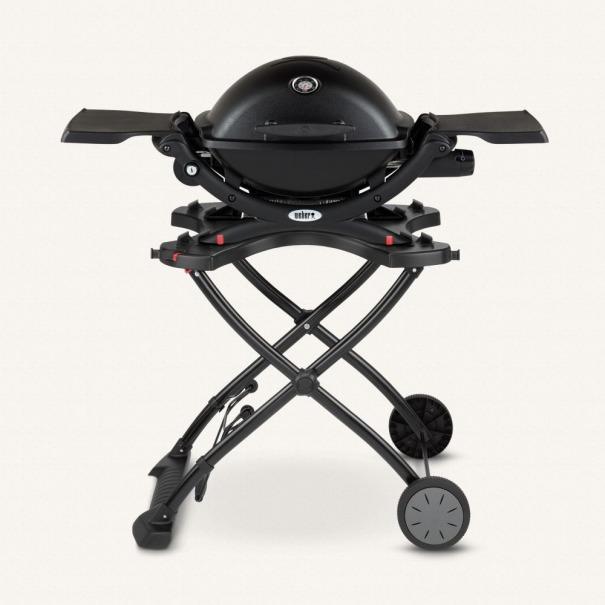 Weber Q 1200 черный с тележкой