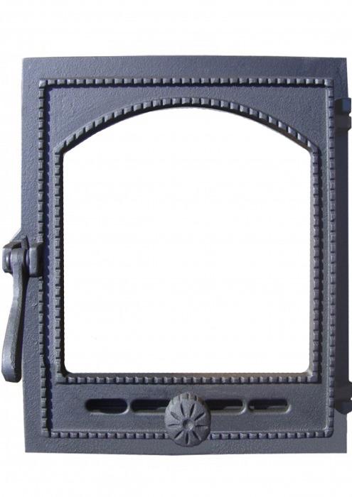 """Дверка топочная """"Онего"""" ДТГ-8АС, со стеклом"""