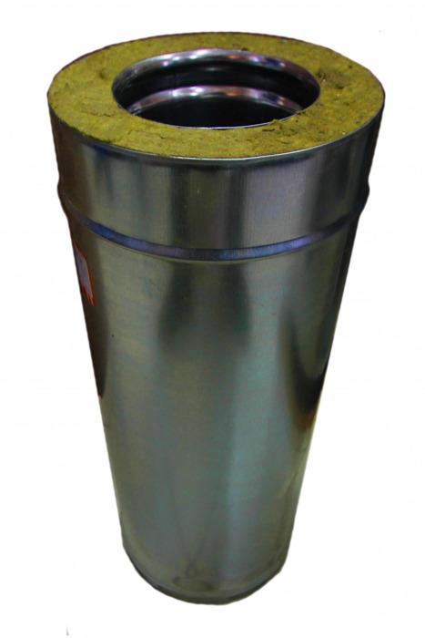 Сэндвич-труба, 115/200, н/оц, 0,5 м (для вентиляции)