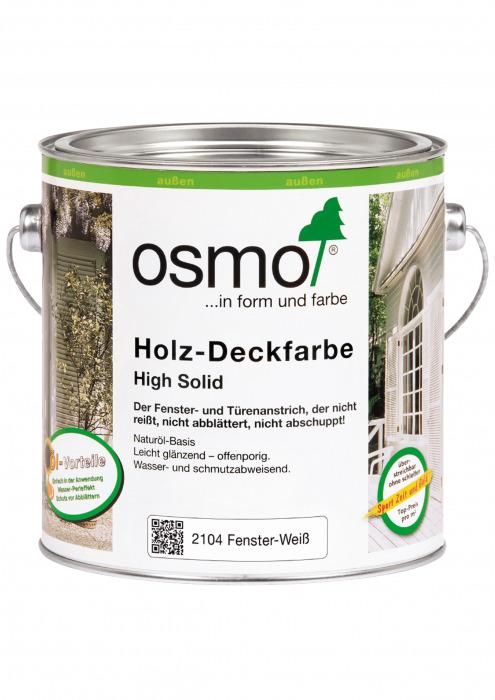 Белая краска - Holz-Deckfarbe, 0,75 л