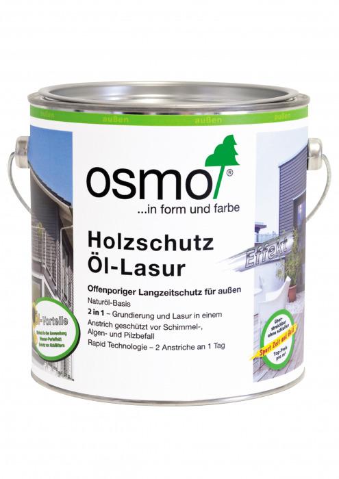 Защитное масло-лазурь с эффектом серебра - Holzschutz OL-Lasur Effekt, 0.75л, картинка 1
