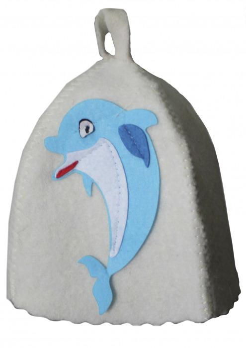 """Шапка детская для бани """"Дельфин"""""""