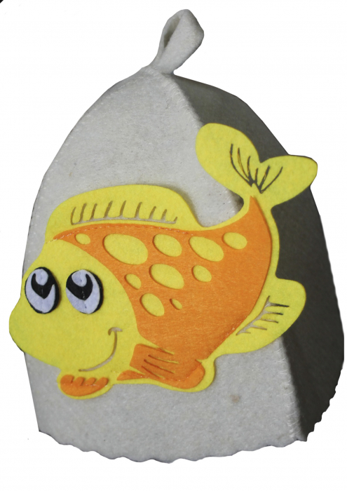 """Шапка детская для бани """"Рыбка"""""""