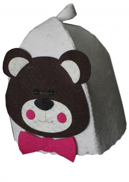 """Шапка детская для бани """"Медвежонок"""""""