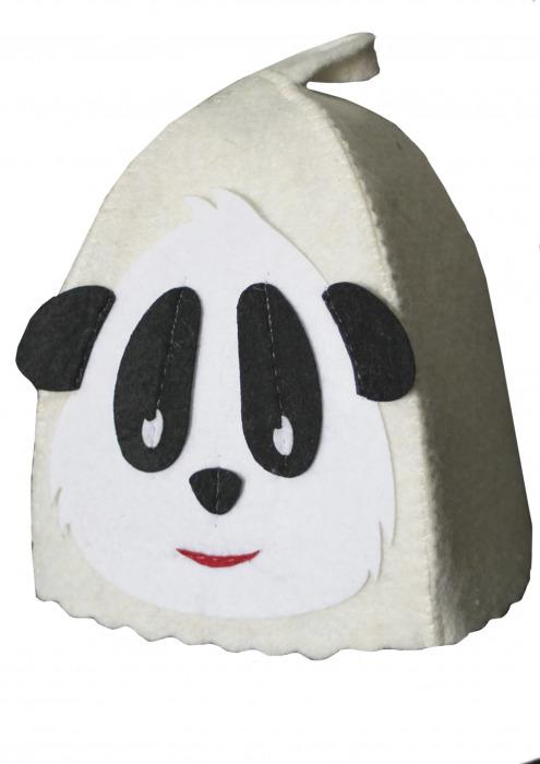 """Шапка детская для бани """"Панда"""""""