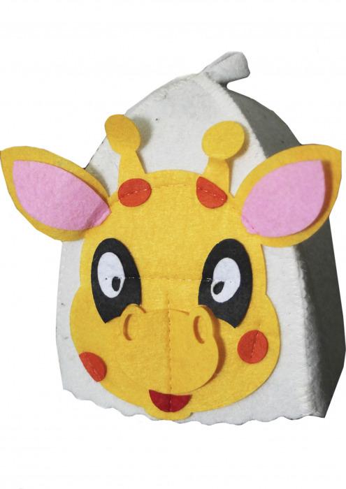 """Шапка детская для бани """"Жираф"""""""