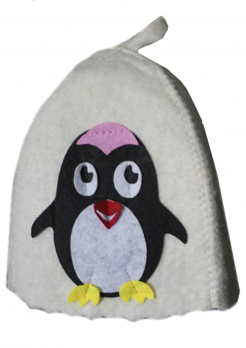 """Шапка детская для бани """"Пингвинёнок"""""""