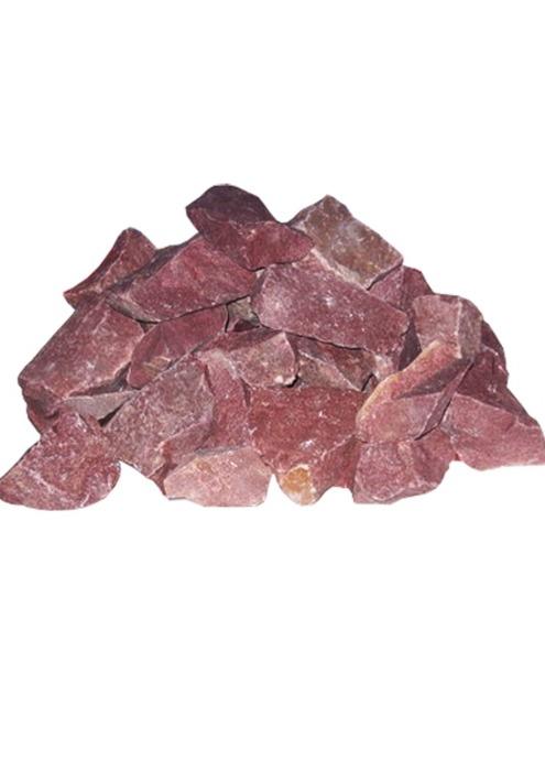 Камни для бани, кварцит малиновый, 20 кг