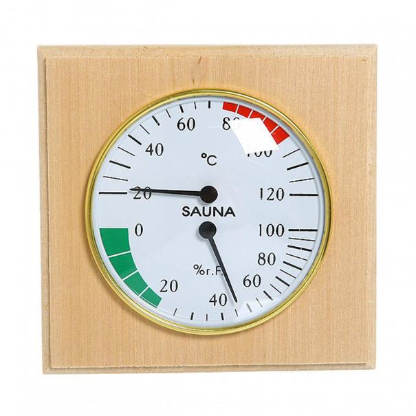 """Термогигрометр """"Банная станция"""" 2 в 1, в дереве"""