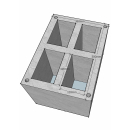 Блок вентиляционный, Vent, четырехходовой, картинка 1