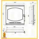 Дверь печная ЛИОН (ДП440-1Б)  , картинка 2